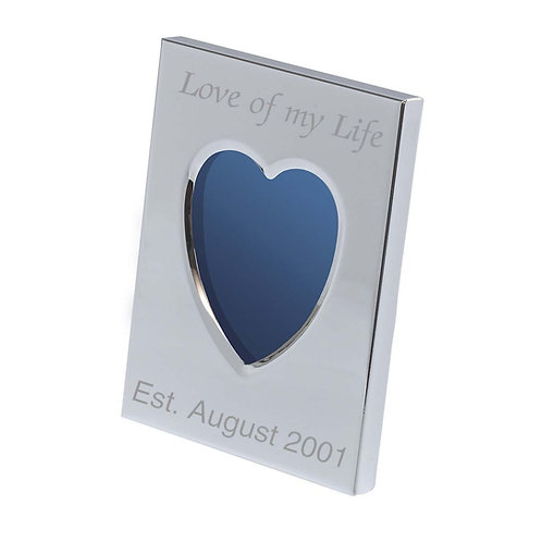 Engraved Mini Frame - Personalised Heart
