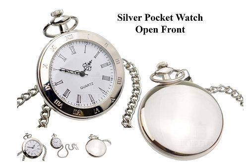 Fob Watch - Open Front (Arabic Numerals)