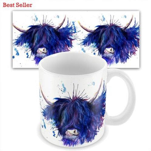 Ceramic Mugs -  SPLATTER HIGHLAND COW KW28M