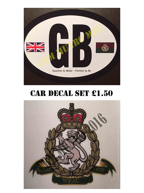 Car Decal Set - WRAC Association