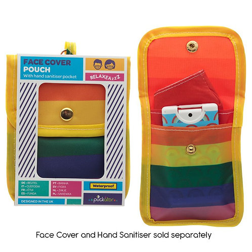 Case - Face Mask & Hand Sanitiser Case Rainbow