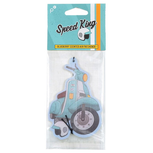 Air Freshener - Blueberry Retro Blue Scooter