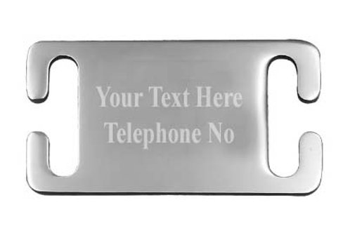 Pet ID Tag -  (Stainless Steel)