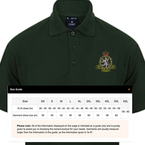 Embroidered Polo Shirts - WRAC Veteran
