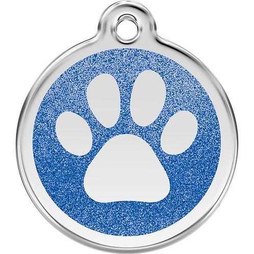 Dog ID Tag - Round - Glitter Paw