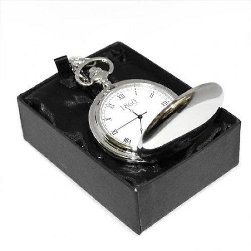 Fob Watch - Silver Finish (Roman Numerals)