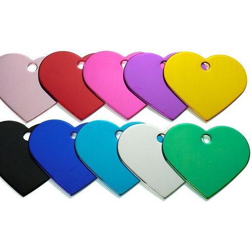 Pet ID Tag - Aluminium Heart
