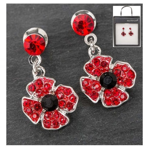Equilibrium -Dangly Poppy Earrings