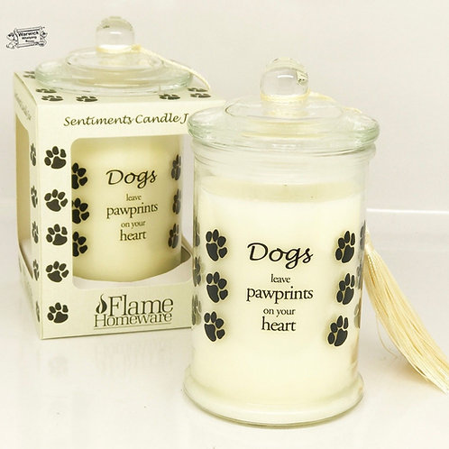 Candles - Dogs Leave Paw Prints