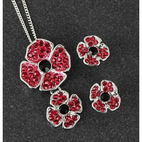 Equilibrium - Small Poppy Necklace and Earring Set