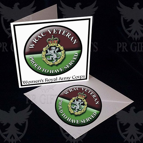 Car Decal & Card - WRAC Proud To Have Served