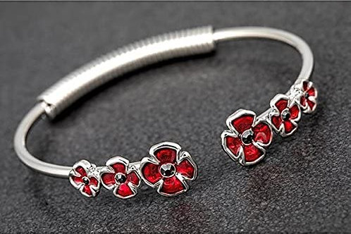 Equilibrium - Pretty Poppies Open Bangle