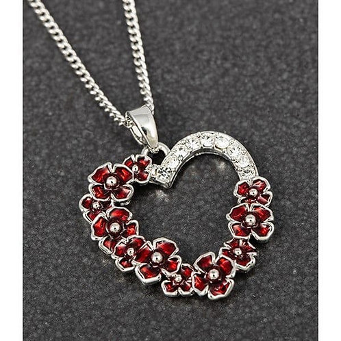 Equilibrium - Poppy Diamante Heart Necklace