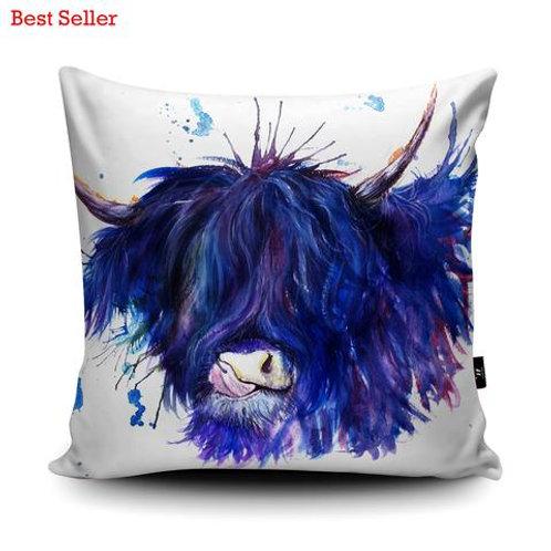 Cushions - SPLATTER HIGHLAND COW KW28U