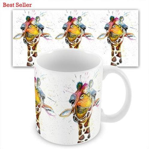 Ceramic Mugs -  SPLATTER RAINBOW GIRAFFE KW37M