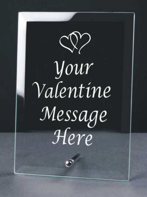 A5 Glass Frame - Valentines Day