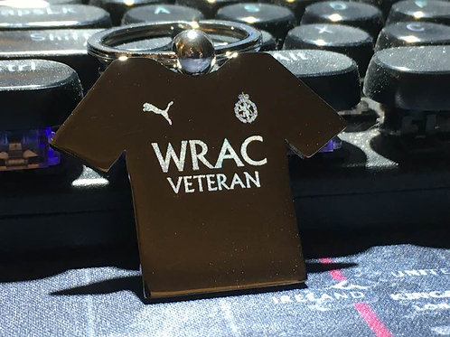 Engraved T-Shirt Key Rings - Football Style