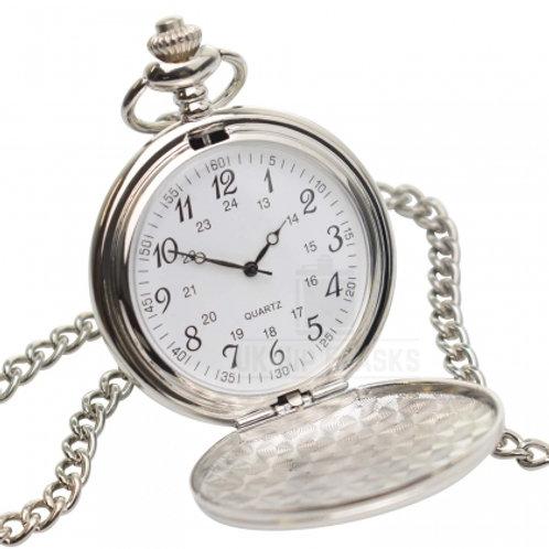 Fob Watch - Silver Finish (Arabic Numerals)