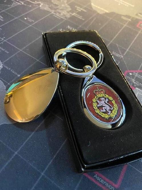 Engraved Key Ring - WRAC Tear Drop