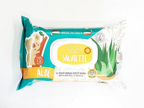Μωρομάντηλα Cosmi Premium Salviette με Aloe Vera (72 μαντηλάκια)