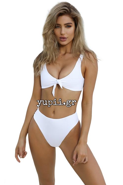 Άσπρο set bikini με ενίσχυση στο στήθος, one size