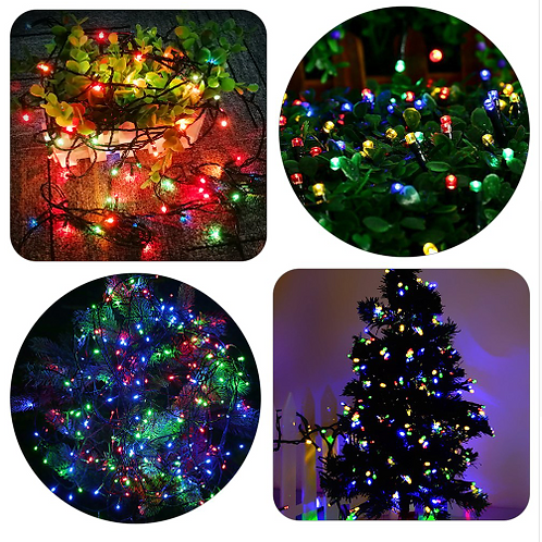 100 πολύχρωμα χριστουγεννιάτικα λαμπάκια LED