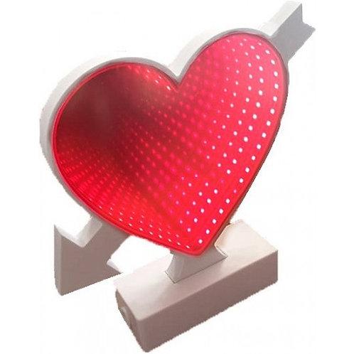 LED 3D Tunnel light διακοσμητικό φωτιστικό καρδιά