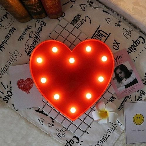 Κόκκινο Φωτιστικό με 10 LED σε σχήμα καρδιάς