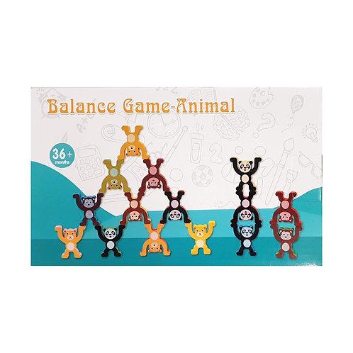 Ξύλινο Παιδικό παιχνίδι ισορροπίας με ζωάκια (15 τμχ.)