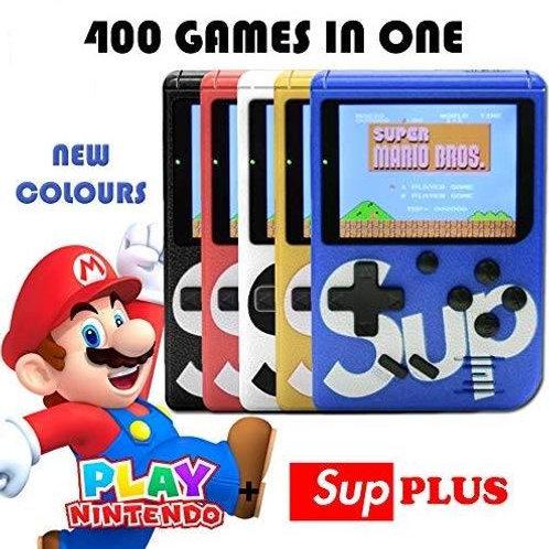 Retro Slim Φορητή Παιχνιδομηχανή - Κονσόλα με 400 κλασικά παιχνίδια