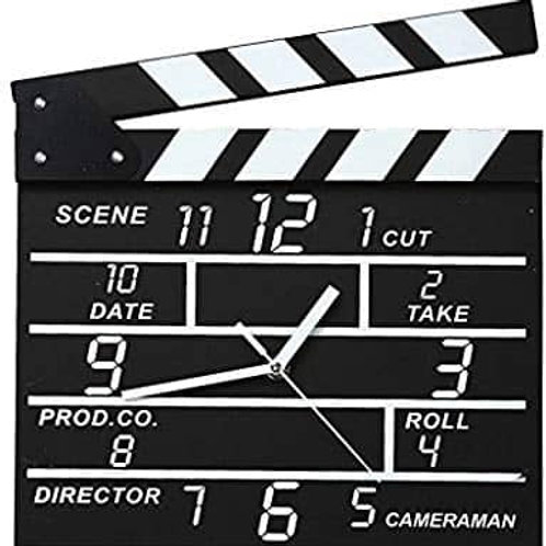 Ρολόι Τοίχου σε Σχέδιο Κλακέτα Σκηνοθέτη