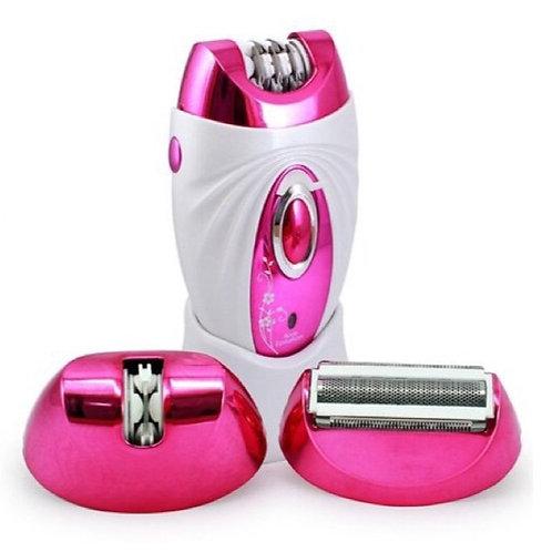 Επαναφορτιζόμενη Γυναικεία Αποτριχωτική και Ξυριστική Μηχανή 3 σε 1