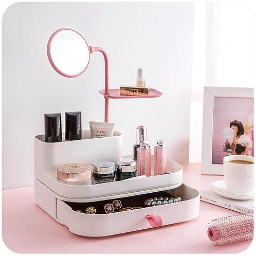 Καθρέφτης - Θήκη Αποθήκευσης Καλλυντικών - Cosmetic Organizer & Mirror