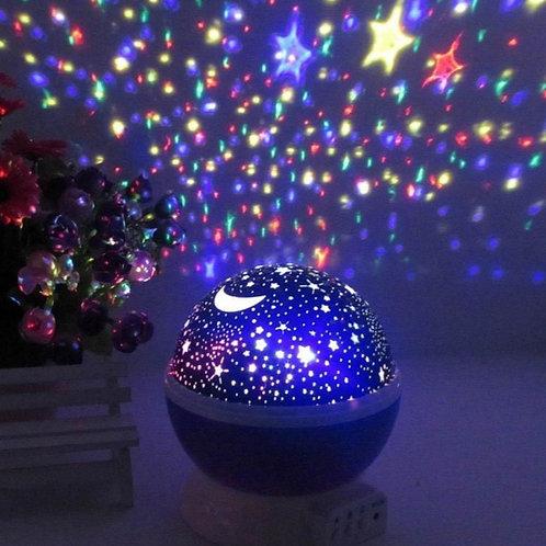 Φωτιστικό Δωματίου σε Μπλε, Μωβ ή Ροζ χρώμα, περιστρεφόμενο με projector