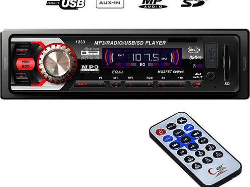 Radio Mp3 Player Αυτοκινήτου USB/FM/AUX/SD με τηλεχειριστήριο