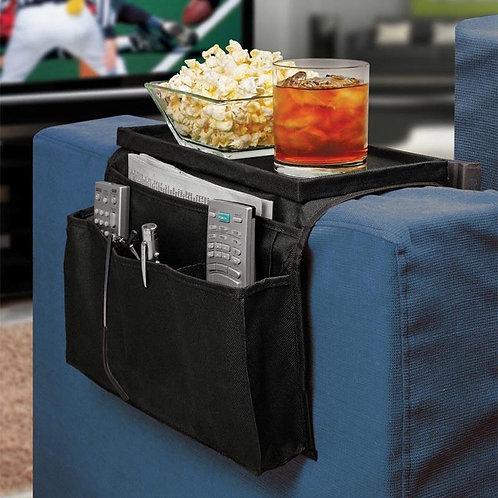Θήκη οργάνωσης για τον καναπέ με βάση για ποτά, αναψυκτικά, τηλεκοντρόλ