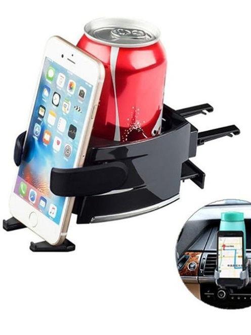 Πλαστική βάση στήριξης κινητού τηλεφώνου και αναψυκτικού-ποτηριού