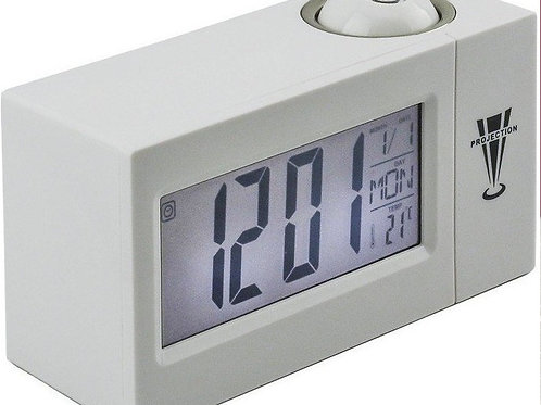 Ψηφιακό Ρολόι Προτζέκτορας - ΟΕΜ DS-3605 Λευκό