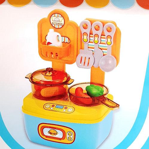 Παιδικό παιχνίδι κουζίνα με αξεσουάρ (18 τμχ.)