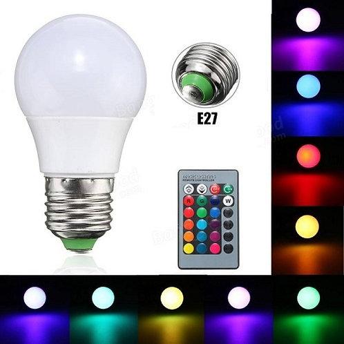 Led Λάμπα RGB με Τηλεχειριστήριο, Εναλλαγή 16 Χρωμάτων & Λευκό Φως