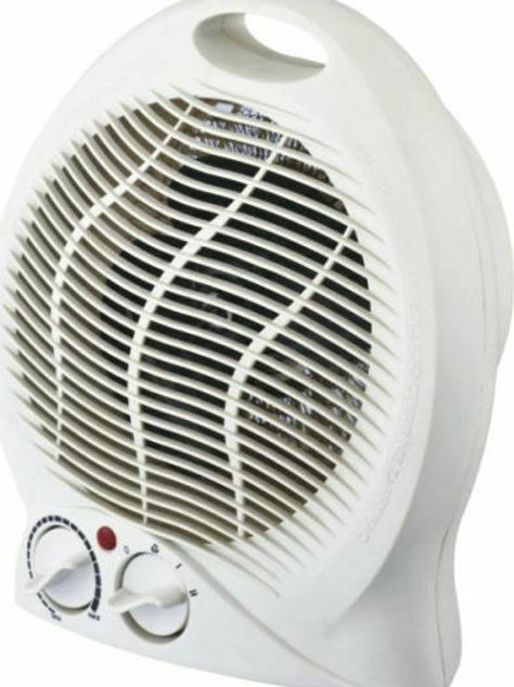 Φορητό αερόθερμο δαπέδου 2000W λευκό