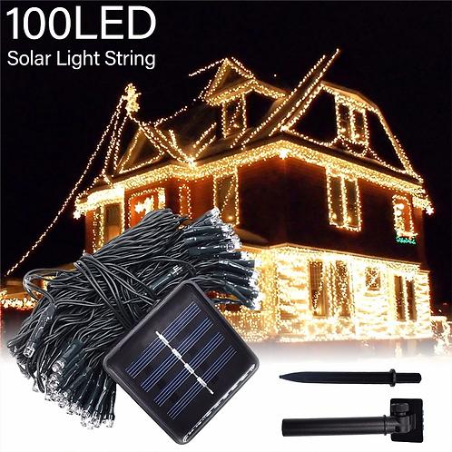 100 Ηλιακά Χριστουγεννιάτικα διακοσμητικά λαμπάκια LED μπαλκονιού