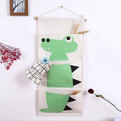 Παιδικό υφασμάτινο organizer τοίχου με 3 θήκες