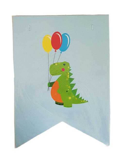 Χάρτινη γιρλάντα για πάρτυ - Δεινόσαυροι