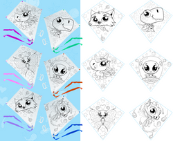 Color Your Own Kite Mocks