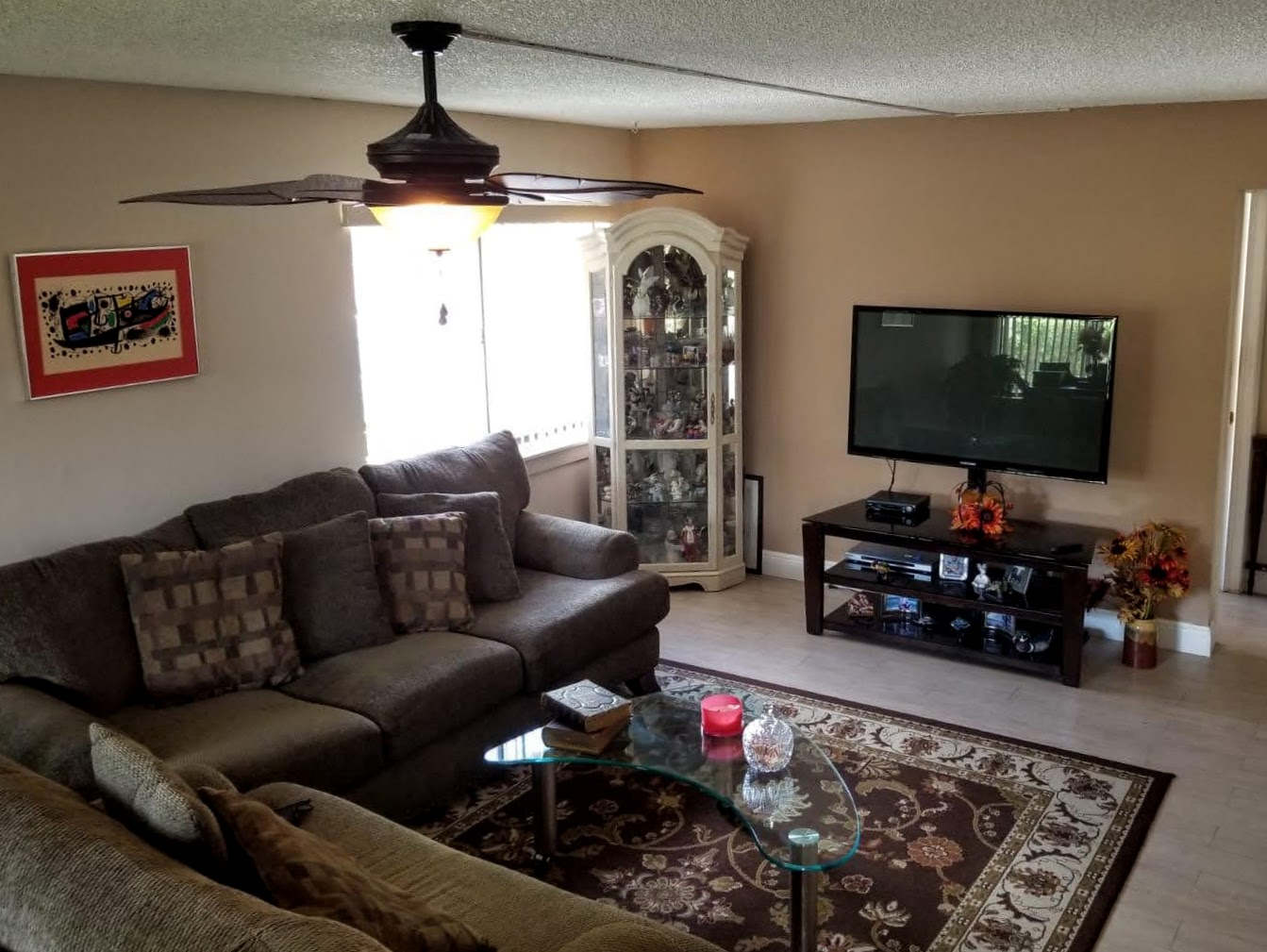 home for sale in plantation living room.