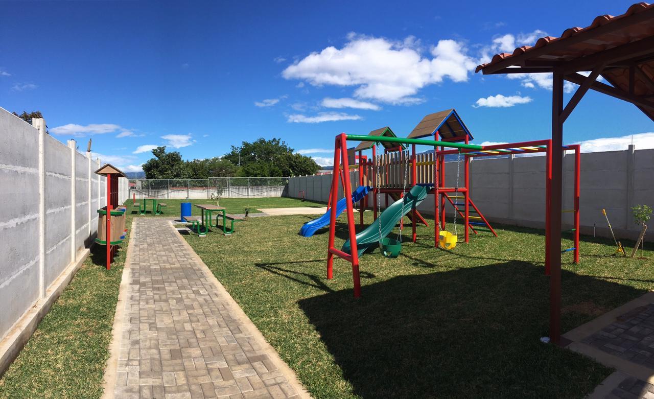 park with children slides