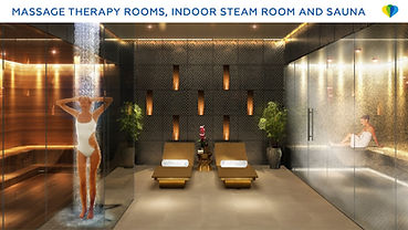 therapy rooms and sauna