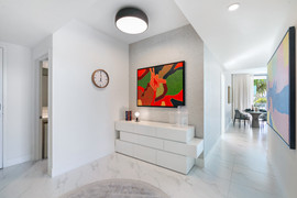bright and open area with artwork