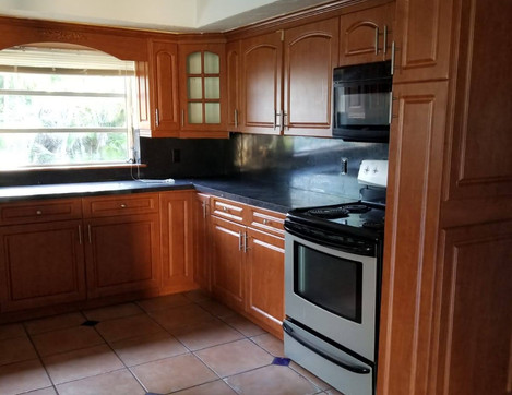 Kitchen in bank owned home
